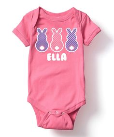 Take a look at this Raspberry Personalized Bunnies Bodysuit - Infant today!