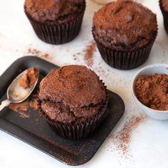 Gluten-Free Cocoa and Banana-Hazelnut Muffins   Food & Wine