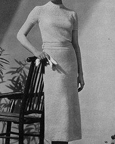 Terrace Dress crochet pattern published in Crocheted Dresses, Spool Cotton Co. #61.