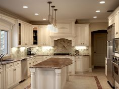 White Kitchen Cabinets / needs wood floors for sure