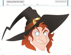 Halloween Mask Mrs Witch Halloween Masks, Witch, Printables, Holidays, Kids, Fictional Characters, Art, Young Children, Art Background