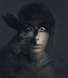 Flora Borsi Animeyed Self Portraits3