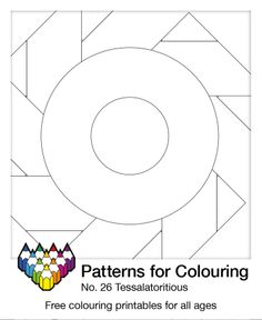 This colouring patterns is simply Tessalatoritious! Download the free PDF for some creative fun