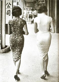 """In the Mood for Cheongsam: New Women in Old Shanghai Glamour """"It's almost sad that whenever we think about the pinnacle of modern Chinese style, we always refer to Shanghai in the As if. Shanghai Girls, Old Shanghai, 1960s Fashion, Asian Fashion, Vintage Fashion, Chinese Fashion, Asian Style, Chinese Style, Traditional Chinese"""