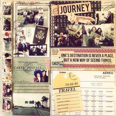 Album de viagem Disney com recordações
