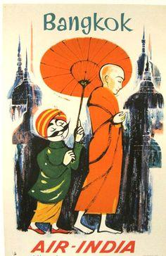 Air India; Bangkok poster