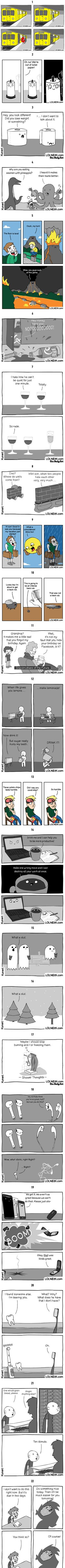 Artist Lolnein Creates The Most Random Comics And It's Impossible Not To Laugh