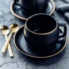 Ceramic Coffee Cup and Saucer with Stainless Steel Spoon You can find Coffee cups and more on our website.Ceramic Coffee Cup and Sau. Turkish Coffee Cups, Coffee Cup Cozy, Ceramic Coffee Cups, Coffee Cups And Saucers, Ceramic Mugs, Coffee Mugs, Glass Coffee Cups, Coffee Coffee, Ceramic Pottery