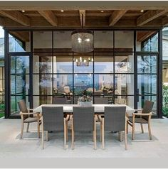 Outdoor Dining Door Design, Exterior Design, Outdoor Rooms, Outdoor Living, Contemporary Architecture, Architecture Design, Steel Doors And Windows, Br House, My Dream Home