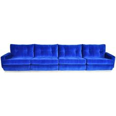 View this item and discover similar for sale at - Elcairage Intime (Intimate Lighting) sofa by Roche Bobois. 4 piece sectional, locking together with leather straps. Sofa Seats, Sectional Sofa, Sofas, Armchairs, Blue Furniture, Sofa Furniture, Roche Bobois Sofa, Yves Klein Blue, Person Sitting