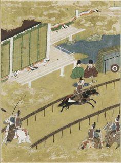"The Fireflies (Hotaru), Illustration to Chapter 25 of the ""Tale of Genji"" (Genji monogatari) by TOSA Mitsunobu,  Paintings"