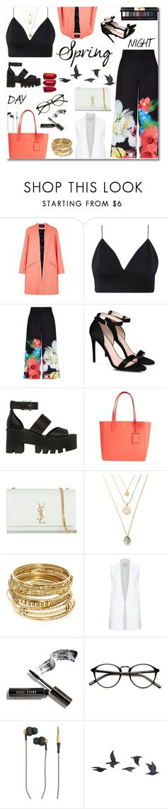 """""""Betta"""" by ragelove ❤ liked on Polyvore featuring Paper London, Ted Baker, STELLA McCARTNEY, Windsor Smith, Kate Spade, Yves Saint Laurent, ABS by Allen Schwartz, River Island, Bobbi Brown Cosmetics and Kreafunk"""