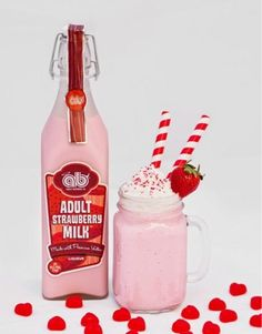 Adult Strawberry Milkshake for Two