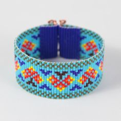 Native Autumn Trees Bead Loom Bracelet Bohemian Boho Artisanal Jewelry Indian Western Bead Santa Fe Native American Style Southwestern by PuebloAndCo on Etsy https://www.etsy.com/listing/246562803/native-autumn-trees-bead-loom-bracelet