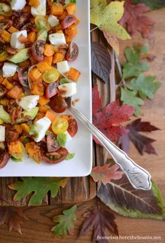 Butternut Caprice Salad with Hot Bacon Dressing.