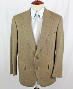 81a25989b Jos A Bank Sport Coat Blazer Mens size 42R Wool Herringbone 2 Button Single  Vent #
