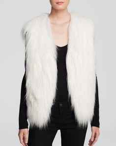 Guess Vest - Draped Faux Fur