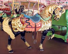 Carousel horse taken at Idlewild Park by photos for fun, via Flickr.