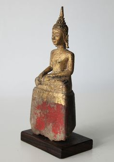 Catawiki online auction house: Wooden Lanna style Buddha - Burma - late 19th century