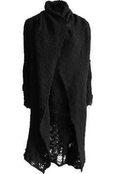 THOM KROM | Merino wool knit cardigan | Black