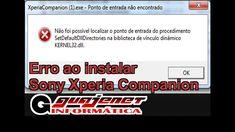 Erro ao instalar o Sony Xperia Companion - KERNEL32.dll (Corrigir erros ...