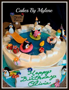 Penguin Pool Party Cake