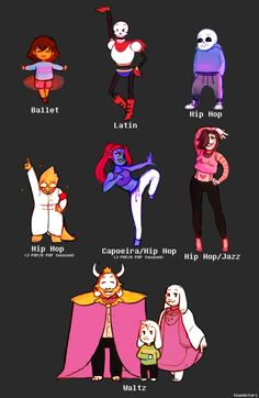 Undertale - Dancetale AU--I fall in love with nearly every AU that comes my way.