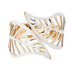 Leaf Hinge Cuff Bracelet