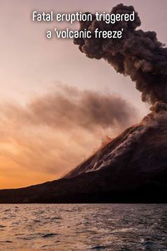 Researchers studying the Anak Krakatau eruption say up to 10 million tons of ice was generated in the upper atmosphere. Taal Volcano, Aviation Industry, Tsunami, Thunderstorms, Natural Disasters, Java, Mother Nature, Underwater, Philippines