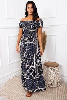 Pretty Summer Dresses, Summer Dresses For Women, Cute Dresses, Cute Wedding Dress, New Print, Virgo, Cool Outfits, Boutique, Navy