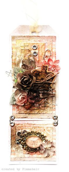 Butterfly tag - Live with Prima by finnabair, via Flickr
