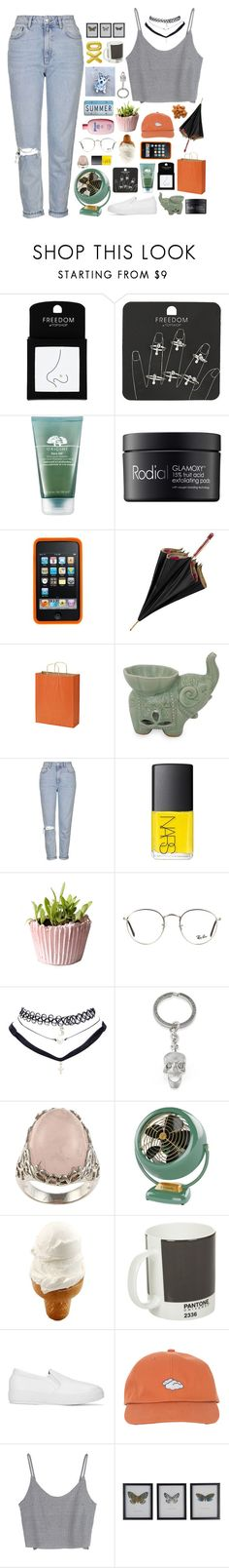 """""""☾ izzy's 1k abc set challenge"""" by thundxrstorms ❤ liked on Polyvore featuring Topshop, Origins, Rodial, Aspinal of London, NOVICA, NARS Cosmetics, Ray-Ban, Wet Seal, La Preciosa and xO Design"""