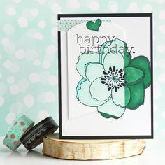 With Love Card by ilovestamping for the #EllenHutsonLLC #PinSightsChallenge. #EssentialsbyEllen #MondoMagnolia
