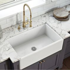 White Farmhouse Sink, Fireclay Farmhouse Sink, Fireclay Sink, Farmhouse Aprons, Farmhouse Sink Kitchen, White Farm Sink, Farmhouse Decor, Kitchen Redo, Cast Iron Farmhouse Sink