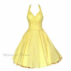 50s 60s Vintage Polka Dot Swing Jive Rockabilly Dress