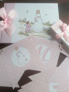 #LIBRODEFIRMAS Y #BANDERINES #COMUNION Place Cards, Place Card Holders, Blog, Christening, Illustrations, Blogging