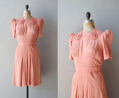 vintage 1930s dress / rayon 30s dress / Nom de Plume by DearGolden, $254.00