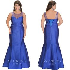 Beautiful full length blue gown exclusively available in plus sizes for prom, formal, black tie, red carpets and anything fancy!