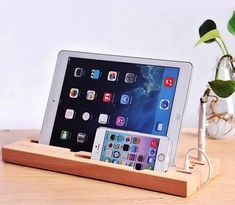 Wooden Gadget Stand with Touch Screen Pen #Gadgets
