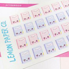 36 Pastel Kawaii Planner/Notebook Icon Stickers for Kikki K, Erin Condren, MAMBI, Filofax and others