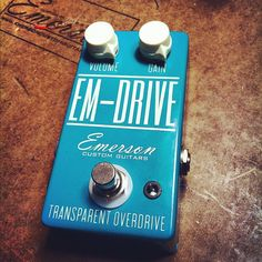 """EM Drive"" by Emerson Custom Guitars. Delicious transparent overdrive. Get one. Seriously."