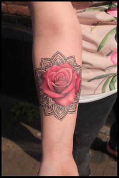 Billedresultat for mandala rose tattoo