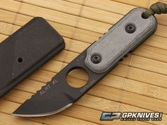 TOPS ALRT XL 05 Neck Knife Micarta