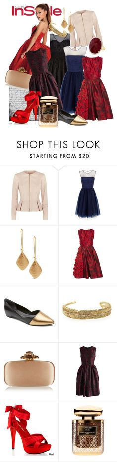 in my style by dodo85 on Polyvore featuring Oscar de la Renta, Chi Chi, Chicwish, BOSS Hugo Boss, Pleaser, Rockport, Tai, Chico's and By Terry