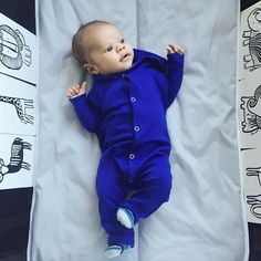 My heart! @sageandsparkle's little man is just perfect in our Cobalt Hoodie Jumper!