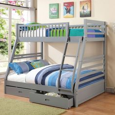 Sienna Rose Twin Over Full Bunk Bed Bedroom