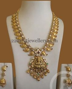 Jewellery Designs: Light Weight Mango Set by Bombay jewels