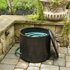 Great For Indoor Or Outdoor Decorative Use   Use As A Hose Holder, Planter,
