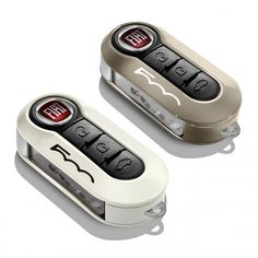 Fiat 500 & 500L Key Covers - Mocha & Pastel White Twin Pack✔️