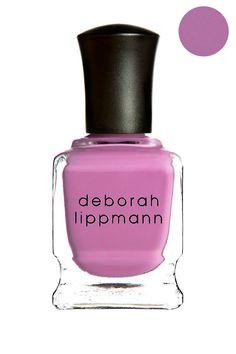 Love this lilac colored Deborah Lippmann nail polish in She Bop